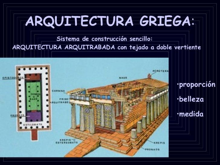 Arquitectura griega for Arte arquitectura definicion