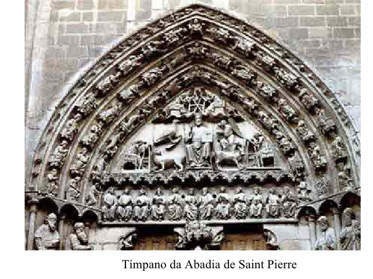 Tímpano da Abadia de Saint Pierre