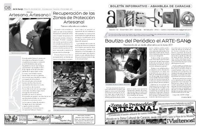08      Arte-San@ • Boletín Informativo - Asamblea de Caracas • Diciembre 2011                                            ...