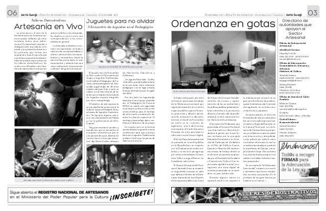 06      Arte-San@ • Boletín Informativo - Asamblea de Caracas • Diciembre 2011                                            ...