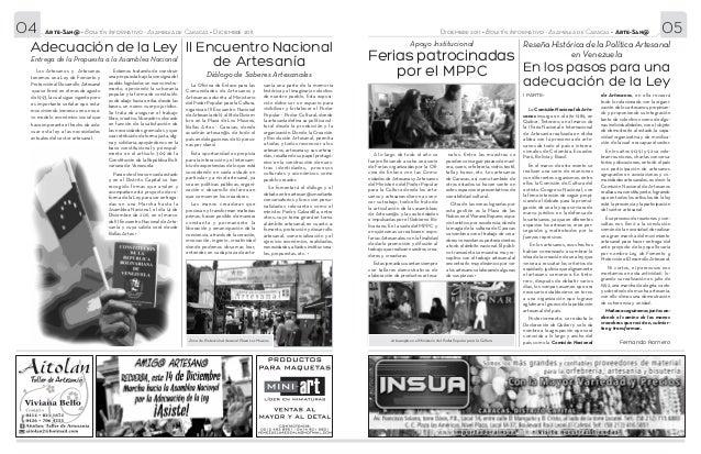04      Arte-San@ • Boletín Informativo - Asamblea de Caracas • Diciembre 2011                                            ...