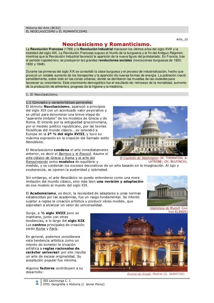 Historia del Arte (BCS2)EL NEOCLASICISMO y EL ROMANTICISMO.                                                               ...