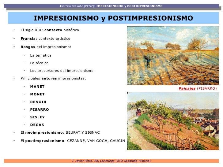 Impresionismo y Postimpresionismo Slide 2