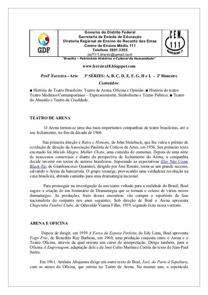 Governo do Distrito Federal                            Secretaria de Estado de Educação                   Diretoria Region...