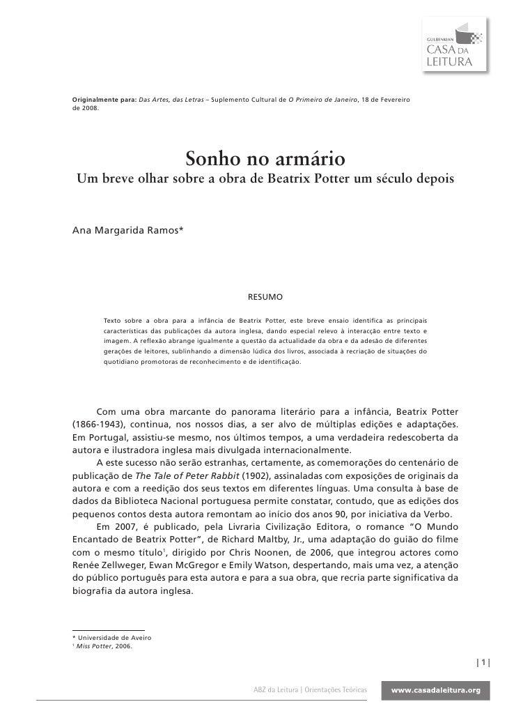 Originalmente para: Das Artes, das Letras – Suplemento Cultural de O Primeiro de Janeiro, 18 de Fevereiro de 2008.        ...