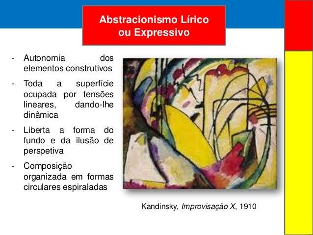 ARTE ABSTRATA- Autonomia doselementos construtivos- Toda a superfícieocupada por tensõeslineares, dando-lhedinâmica- Liber...