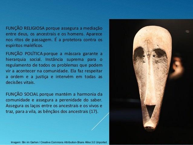 FUNÇÃO POLÍTICA porque a máscara garante a hierarquia social. Instância suprema para o regulamento de todos os problemas q...