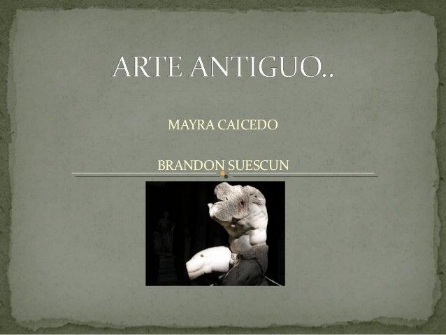 MAYRA CAICEDO BRANDON SUESCUN