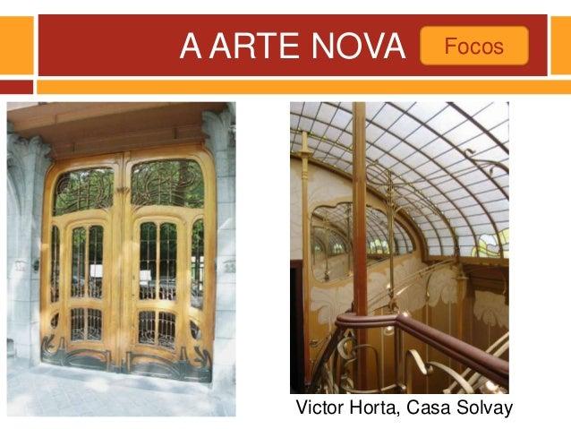 A ARTE NOVA Victor Horta, Casa Solvay Focos