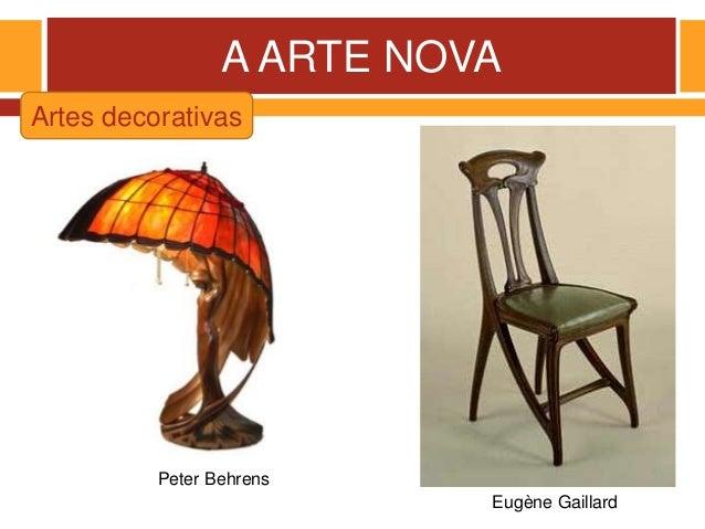 A ARTE NOVA Artes decorativas Eugène Gaillard Peter Behrens