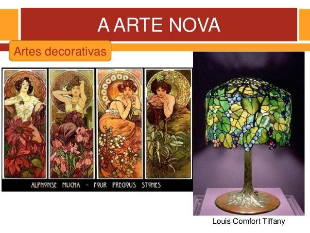 A ARTE NOVA Louis Comfort Tiffany Artes decorativas