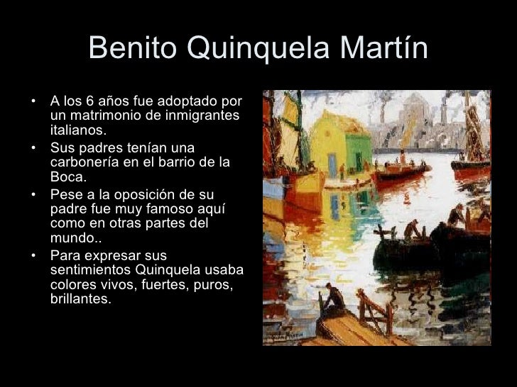 Arte argentino   Quinquela Martín Slide 3