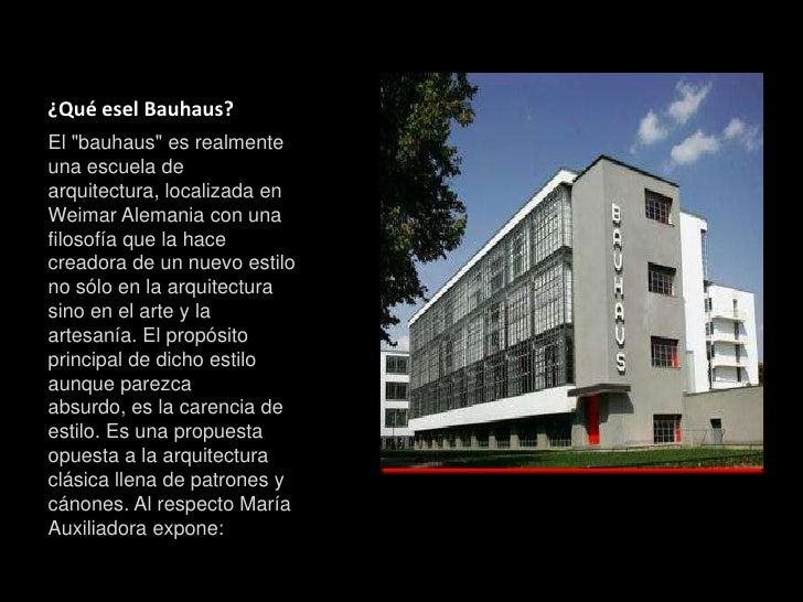 Arte Arquitectura Bauhaus