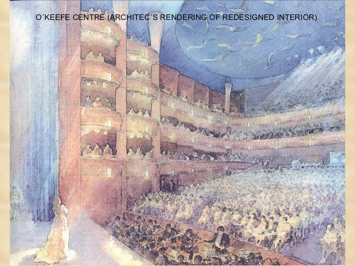 O´KEEFE CENTRE (ARCHITEC´S RENDERING OF REDESIGNED INTERIOR)