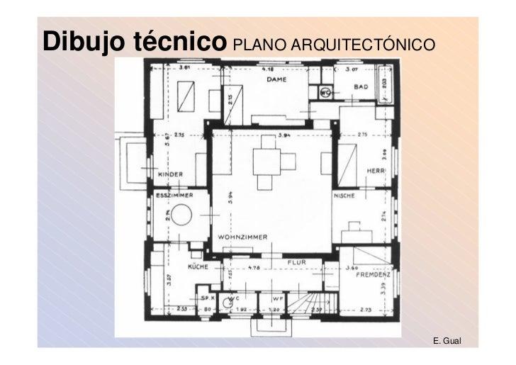 Arte del dibujo for Medidas de un plano arquitectonico
