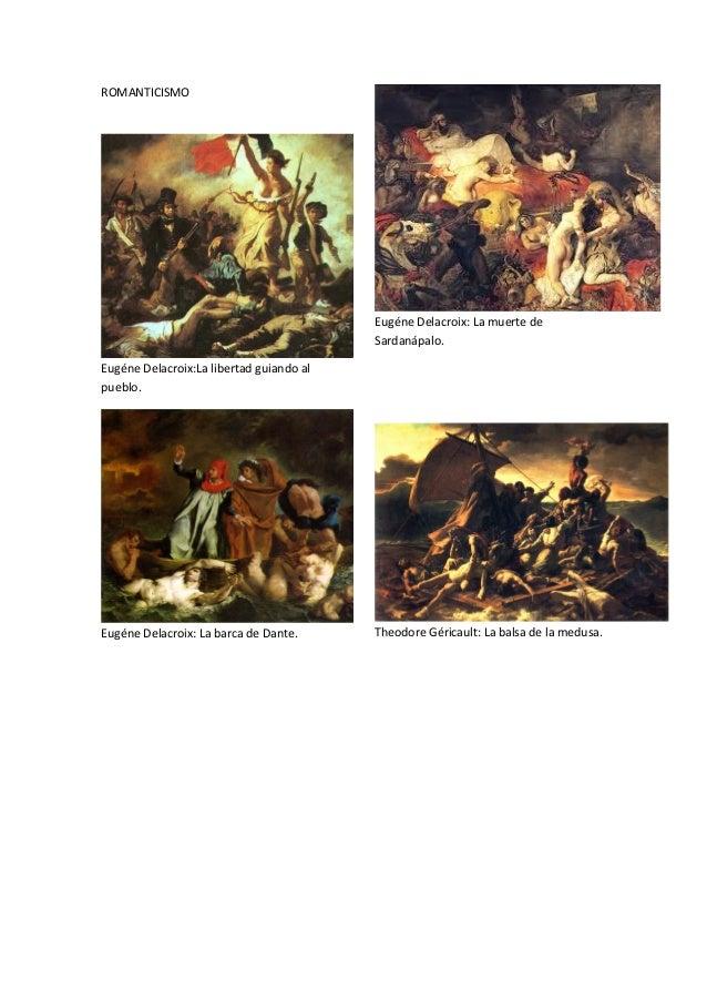 ROMANTICISMO                                          Eugéne Delacroix: La muerte de                                      ...
