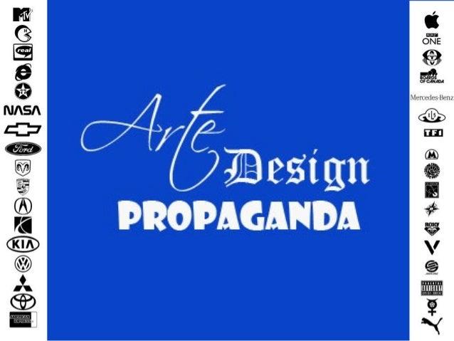 O tema Este trabalho fala sobre a arte e o design da propaganda, como se aplica, onde encontrar as influências das escolas...