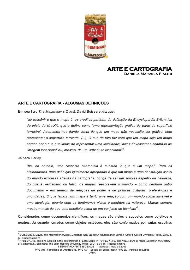 ARTE E CARTOGRAFIA                                                                                          Daniela Marzol...