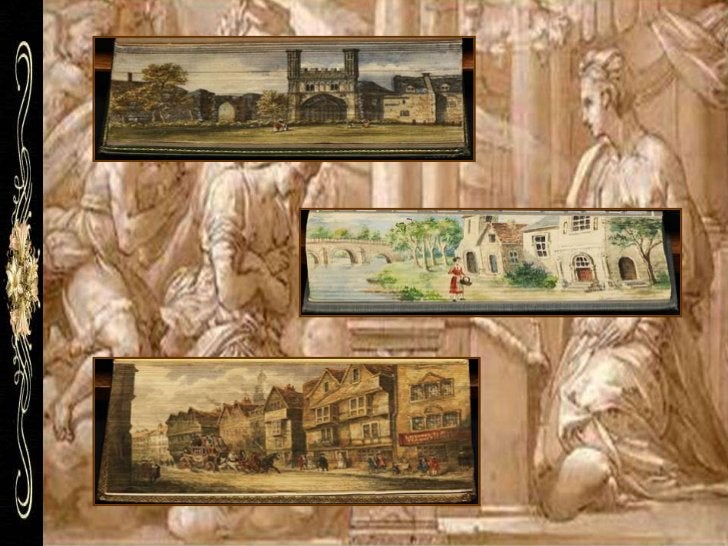 Here is a magnificent 1898 fore-edge   Aquí hay una magnífica pintura depainting of a whaling scene from the   1898, se tr...