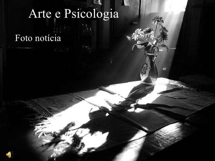 Arte e Psicologia Foto notícia