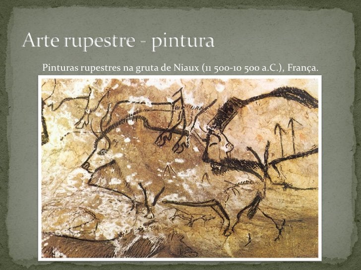 Pinturas rupestres na gruta de Lascaux (c. 20 000 /15 000 a.C.), França.