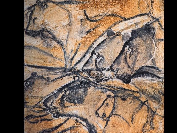 Pinturas rupestres na gruta de Pech Merle (c. 25 000/16 000 a.C.), França.