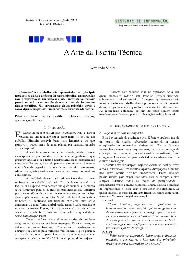 Revista de Sistemas de Informação da FSMA                     n. 8 (2011) pp. 22-30                                       ...