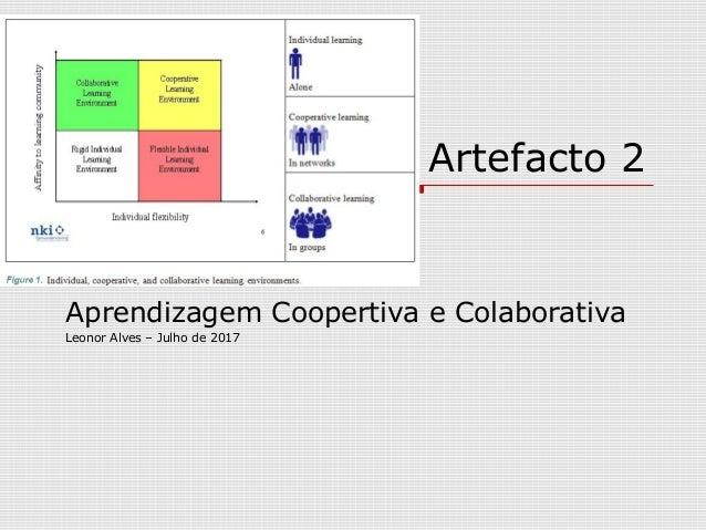 Artefacto 2 Aprendizagem Coopertiva e Colaborativa Leonor Alves – Julho de 2017