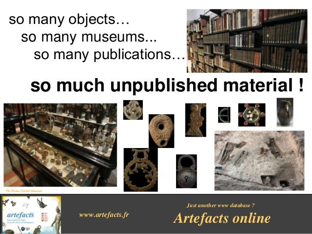 Artefacts online, Encyclopedia of archaeological small finds Slide 3