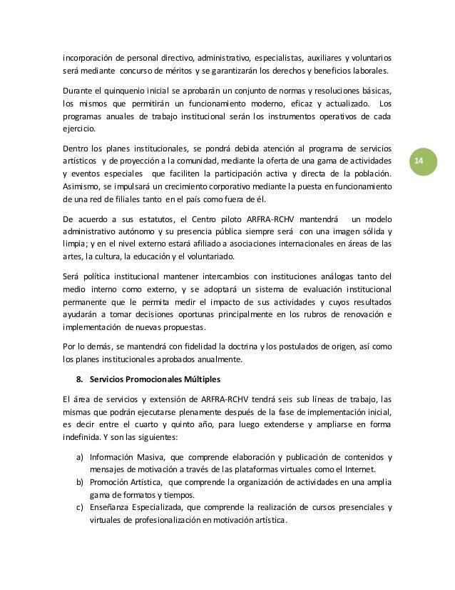 CENTRO PILOTO ARTE FRÁGIL RCHV