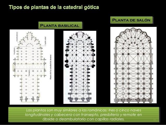 Arte gotico en los primeros reinos cristianos - Planta de salon ...