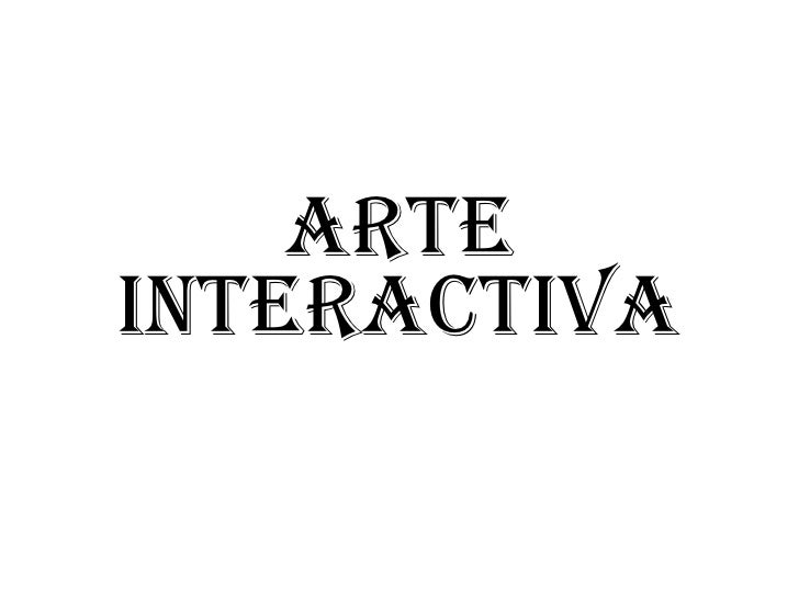 Arte interactiva