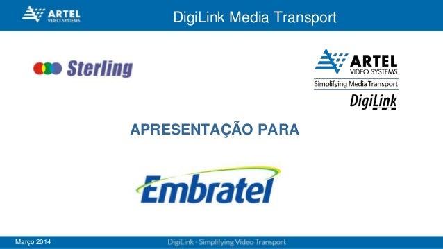 DigiLink Media Transport Março 2014 APRESENTAÇÃO PARA