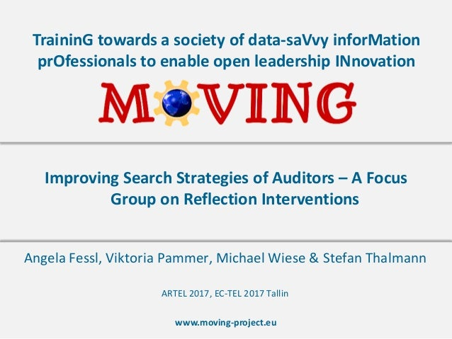 www.moving-project.eu TraininG towards a society of data-saVvy inforMation prOfessionals to enable open leadership INnovat...