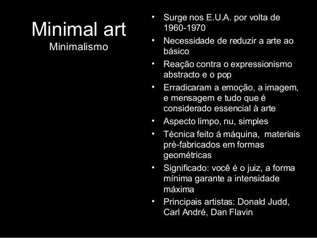 Arte no campo expandido d cada de 1960 70 for Minimal art slideshare