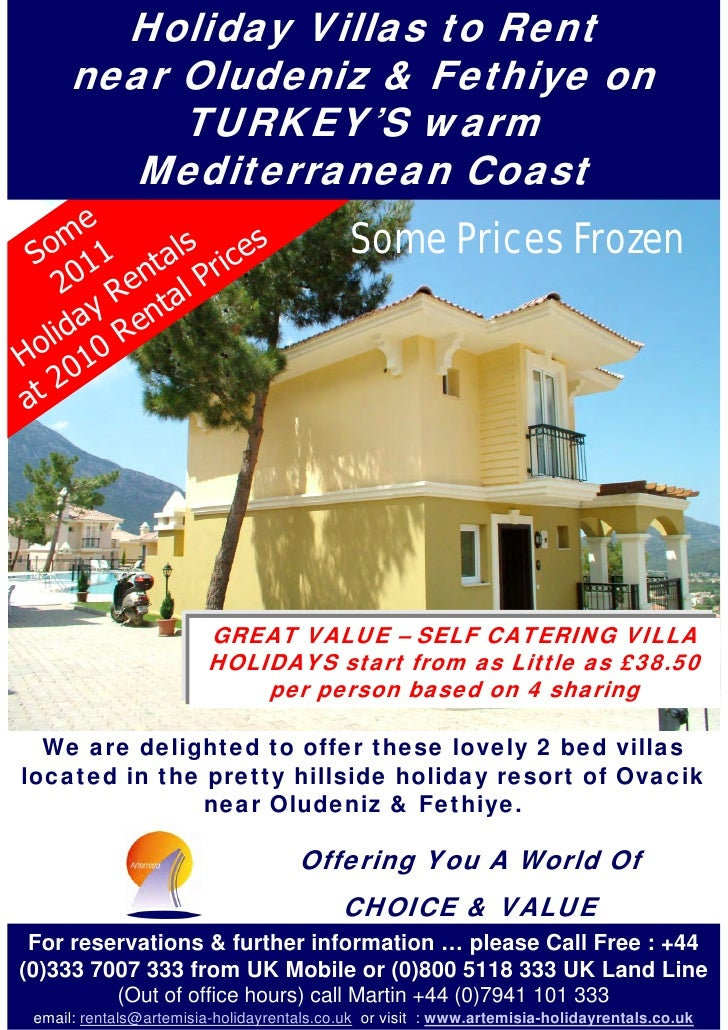 Holiday Villas to Rent       near Oludeniz & Fethiye on            TURKEY'S warm         Mediterranean Coast     me       ...