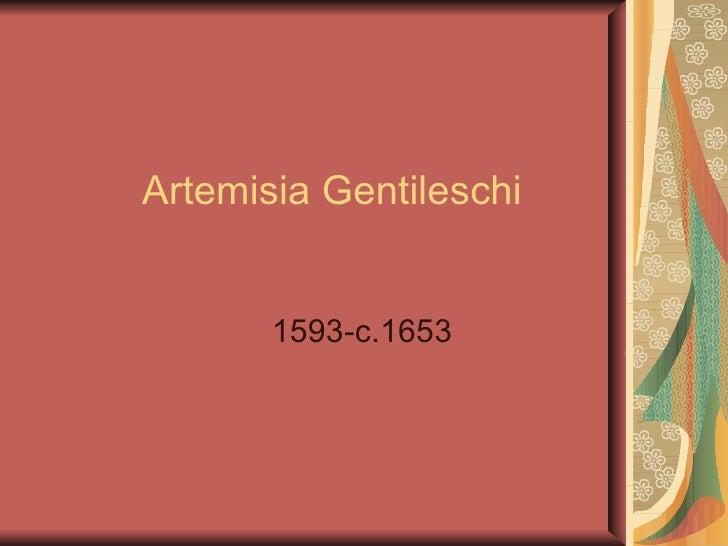 Artemisia Gentileschi 1593-c.1653