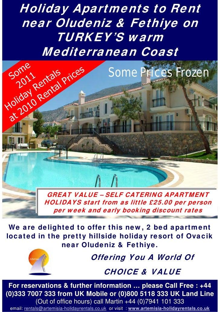 Holiday Apartments to Rent     near Oludeniz & Fethiye on          TURKEY'S warm        Mediterranean Coast     me   o 1  ...