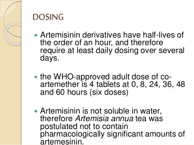 Artemisinin and a new generation of antimalarial drugs