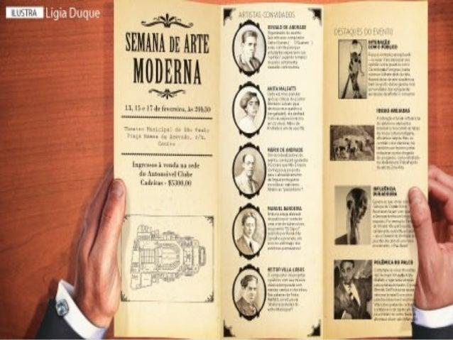 SSeemmaannaa ddaa AArrttee MMooddeerrnnaa  Ocorreu em São Paulo de 11 a 18 de  fevereiro de 1922, no Teatro Municipal.