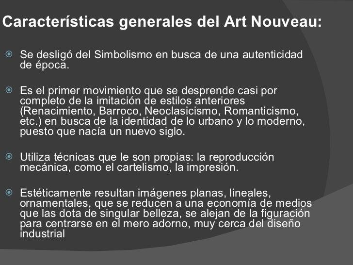 Arte nouveau - Art deco caracteristicas ...