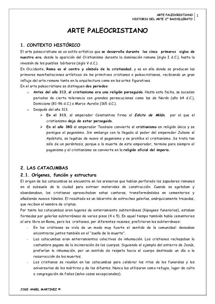 ARTE PALEOCRISTIANO           1                                                                    HISTORIA DEL ARTE 2º BA...