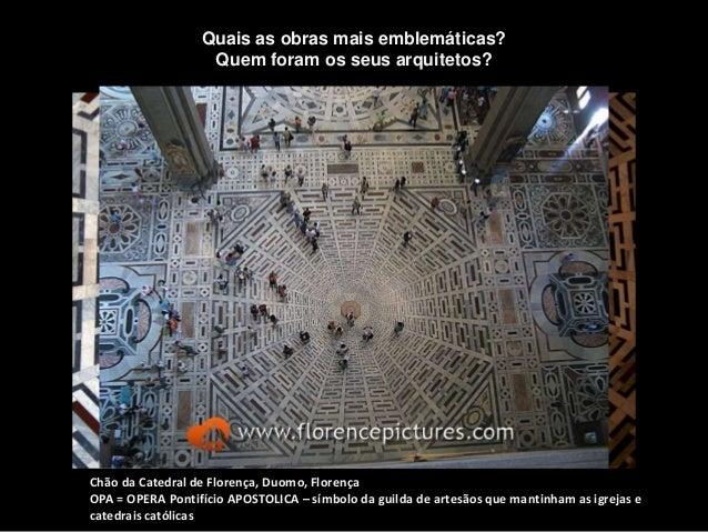 Chão da Catedral de Florença, Duomo, Florença OPA = OPERA Pontifício APOSTOLICA – símbolo da guilda de artesãos que mantin...