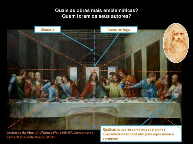 Leonardo da Vinci, A Última Ceia, 1495-97, Convento de Santa Maria delle Grazie, Milão. Quais as obras mais emblemáticas? ...