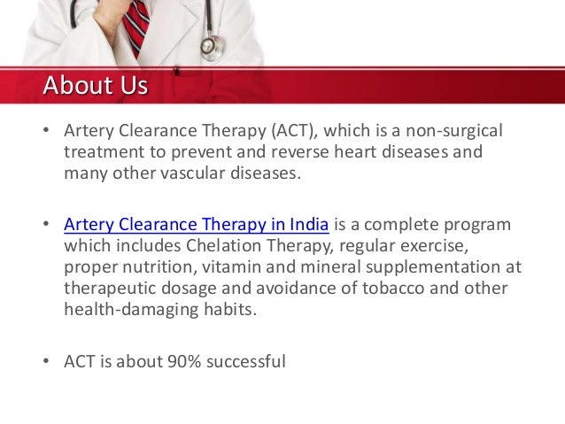 Arterial clearance therapy in India