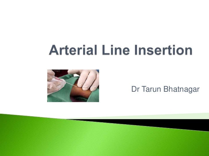 arterial line insertion