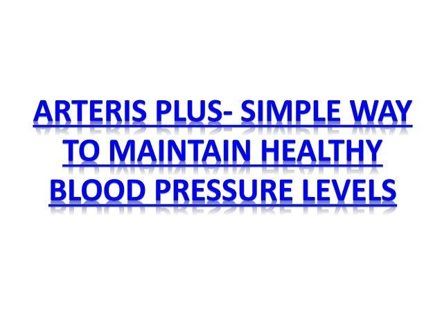 arteris plus simple way to maintain healthy blood pressure levels 1 638