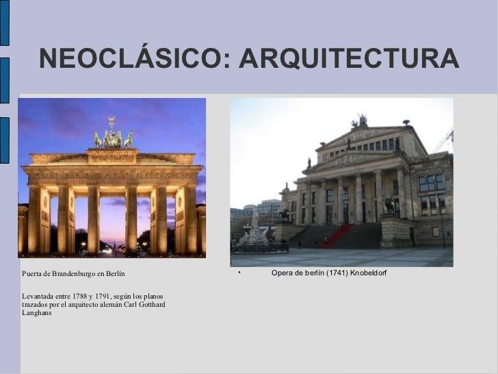 Arte rococo neoclasico for Arquitectos y sus obras