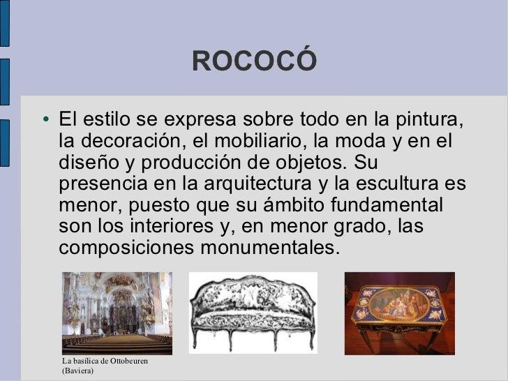 Arte rococo neoclasico for Arte arquitectura y diseno definicion