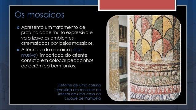  Apresenta um tratamento de profundidade muito expressivo e valorizava os ambientes, arrematados por belos mosaicos.  A ...